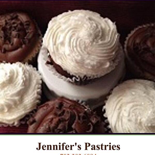 fancy white cupcakes Jennifer Pastries