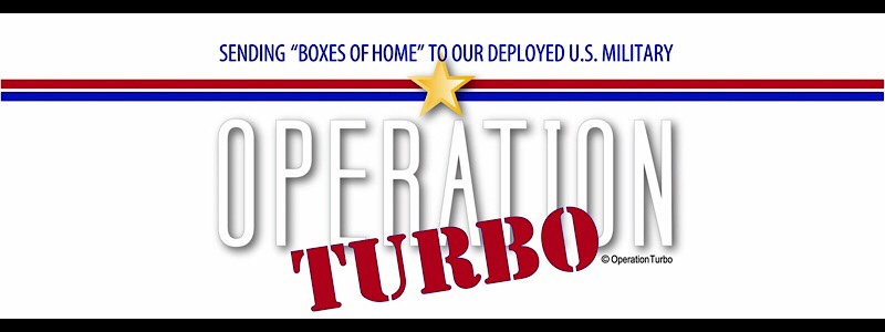 logo red white and blue logo boxes of home for the deployed