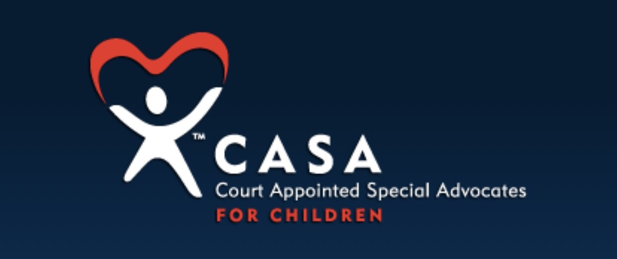 person arms up with parachute, logo for CASA Court Appointed Special Advocates