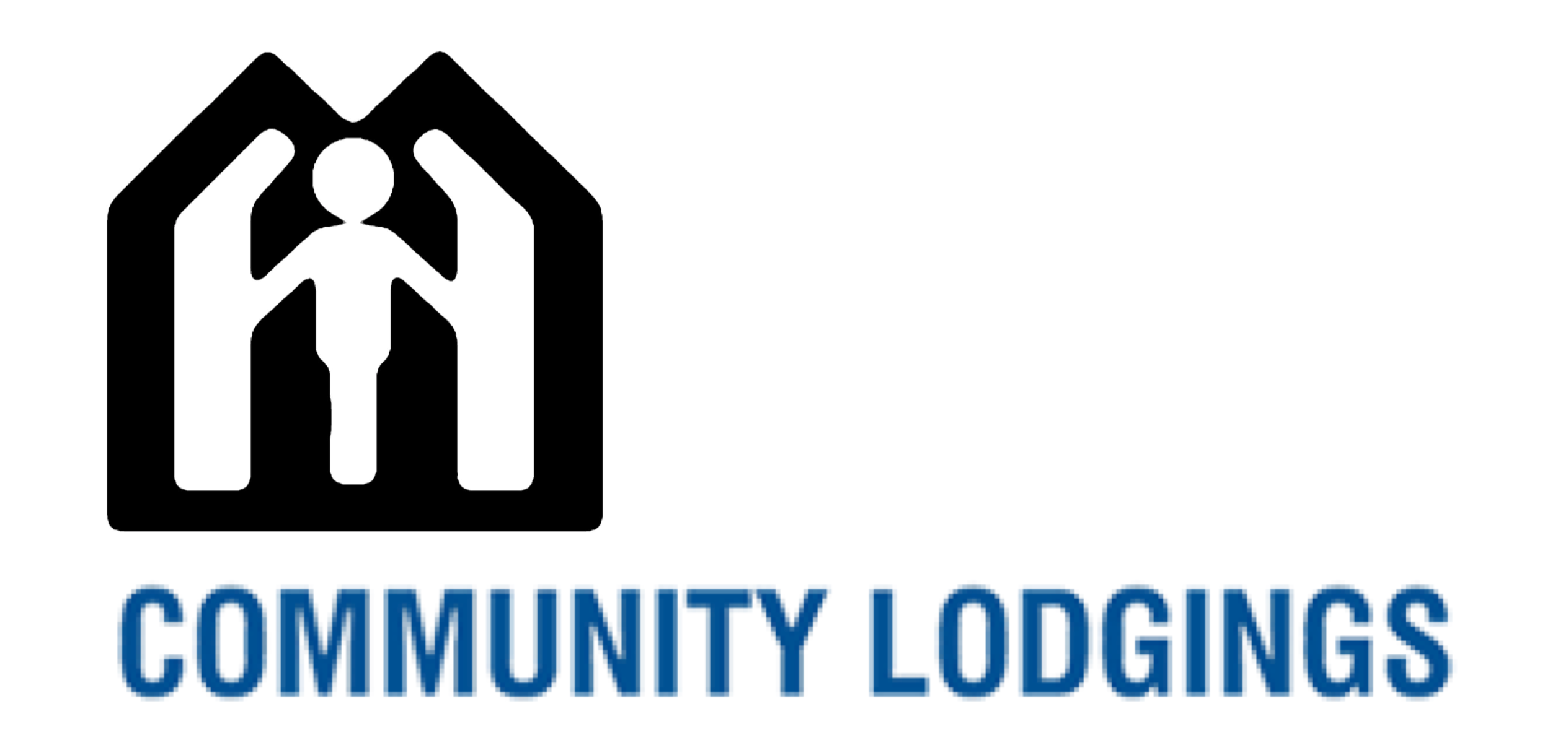 person with a home logo