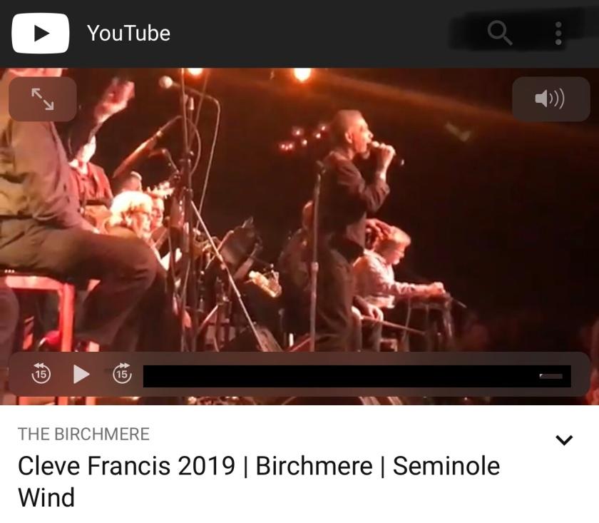 Cleve Francis Birchmere 2019 Seminole Wind