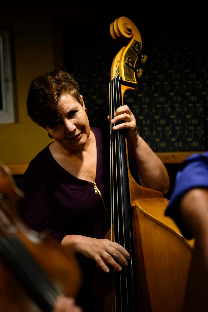 Nancy Lisi playing upright bass